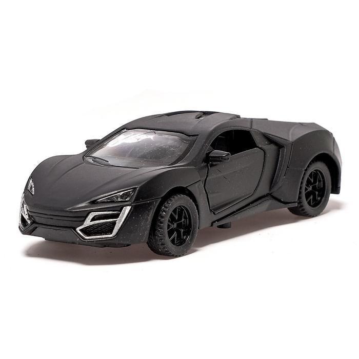 Машина металлическая «ГиперКар», 1:32, инерция, открываются двери, цвет чёрный