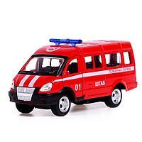 Автобус металлический «Спецслужбы», 1:50, инерция, МИКС, фото 1
