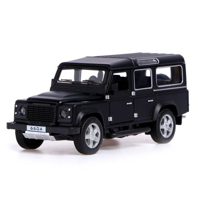 Джип металлический «Сафари», открываются двери, капот, багажник, световые и звуковые эффекты, инерция, цвет чёрный