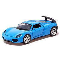 Машина металлическая «Купе», 1:32, инерция, открываются двери, цвет синий, фото 1