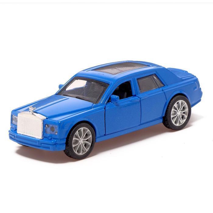 Машина металлическая «Престиж», 1:32, инерция, открываются двери, цвет синий