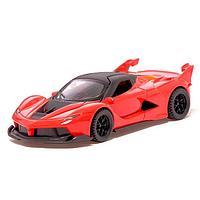 Машина металлическая «СпортКар», 1:32, инерция, открываются двери, цвет красный, фото 1
