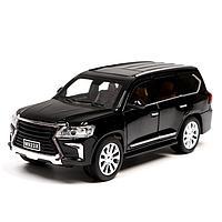 Машина металлическая «Джип», открываются двери, капот, багажник, инерция, цвет чёрный, фото 1