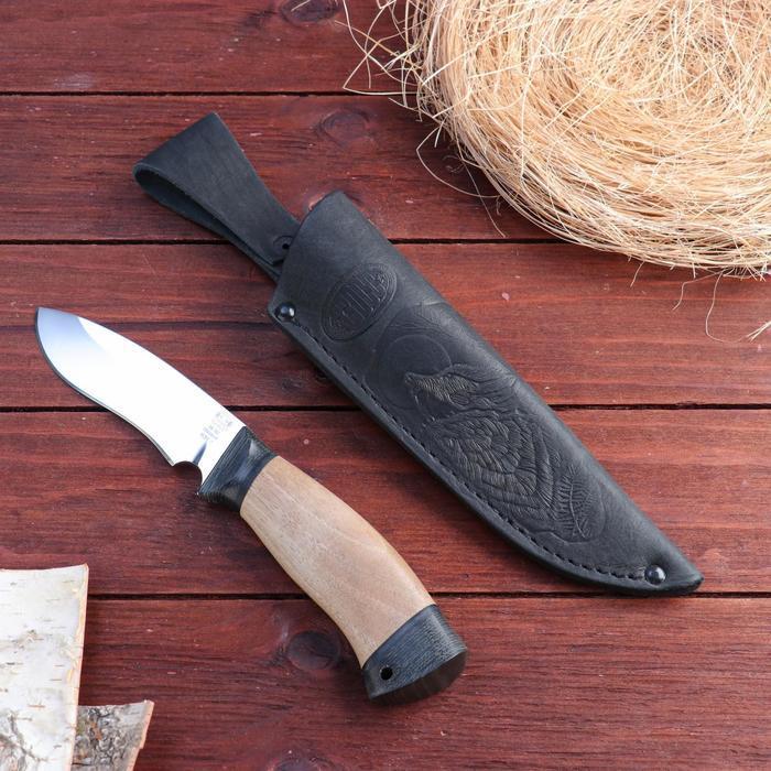 Нож охотничий «Ратник» Н31, ст. ЭИ107, рукоять текстолит, орех, 23 см
