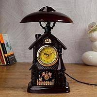 Часы-светильник с будильником,1 АА, дискретный ход, d=6 см, фото 1