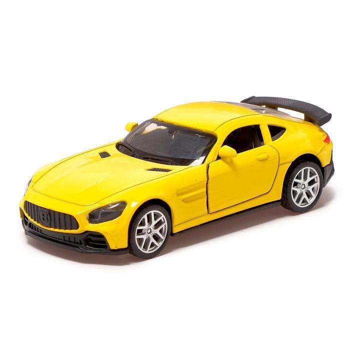 Машина металлическая «Купе», 1:32, инерция, открываются двери, цвет жёлтый