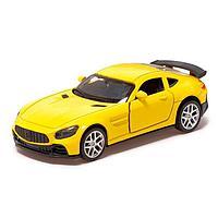 Машина металлическая «Купе», 1:32, инерция, открываются двери, цвет жёлтый, фото 1