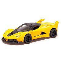 Машина металлическая «СпортКар», 1:32, инерция, открываются двери, цвет жёлтый, фото 1