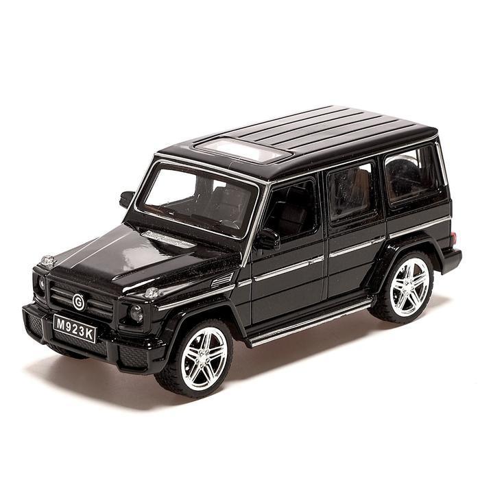 Машина металлическая «Джип», открываются двери, инерция, цвет чёрный