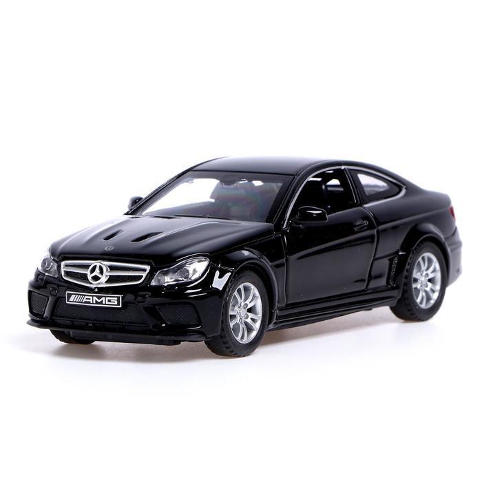Машина металлическая Mercedes-Benz С 63 AMG, открываются двери, капот, багажник, цвет чёрный
