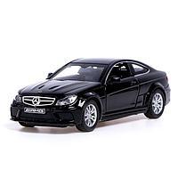 Машина металлическая Mercedes-Benz С 63 AMG, открываются двери, капот, багажник, цвет чёрный, фото 1