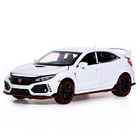 Машина металлическая Honda Civic, открываются двери, капот, багажник, световые и звуковые эффекты, инерция,, фото 1