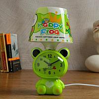 """Часы-светильник """"Весёлая лягушка"""", с будильником, 3 AA. от сети, дискретный ход, фото 1"""