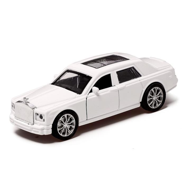 Машина металлическая «Престиж», 1:32, инерция, открываются двери, цвет белый