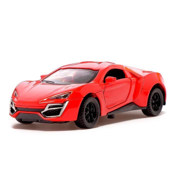 Машина металлическая «ГиперКар», 1:32, инерция, открываются двери, цвет красный