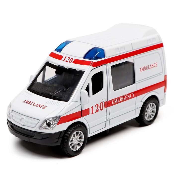 Машина металлическая «Служба спасения», открываются двери, инерция, МИКС