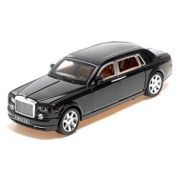 Машина металлическая «Лимузин», открываются двери, капот, багажник, инерция, цвет чёрный