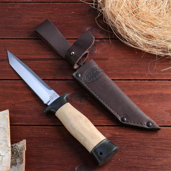 Нож охотничий «Командор» Н20, ст. ЭИ-107, рукоять текстолит, орех, 24,5 см - фото 1