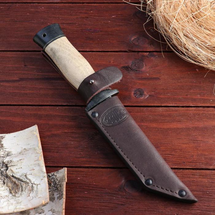 Нож охотничий «Командор» Н20, ст. ЭИ-107, рукоять текстолит, орех, 24,5 см - фото 3