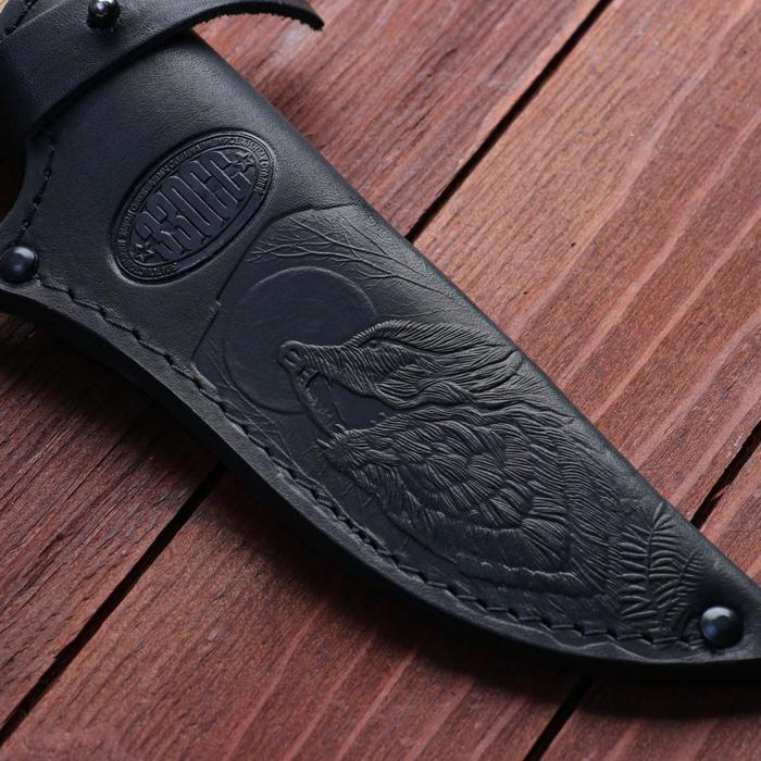 Нож охотничий «Шериф» Н68, ст. ЭИ-107, рукоять текстолит, береста, 23,5 см - фото 4