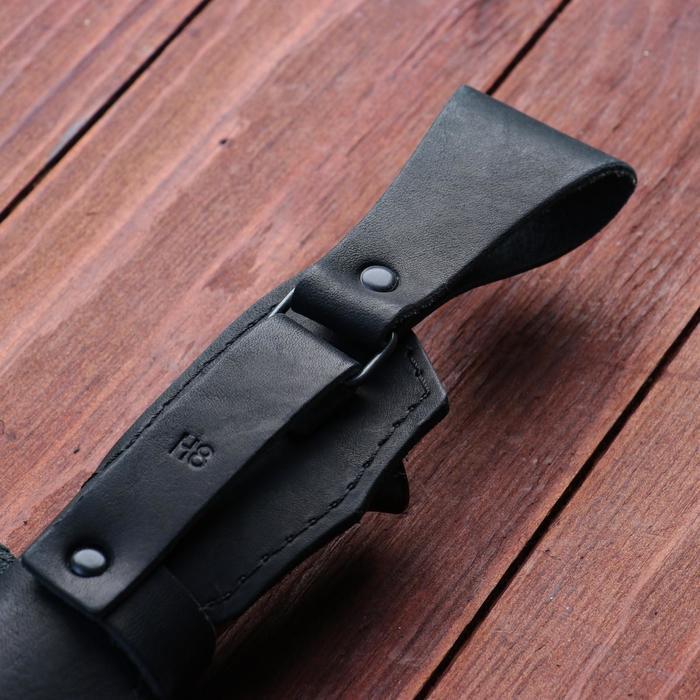 Нож охотничий «Шериф» Н68, ст. ЭИ-107, рукоять текстолит, береста, 23,5 см - фото 6