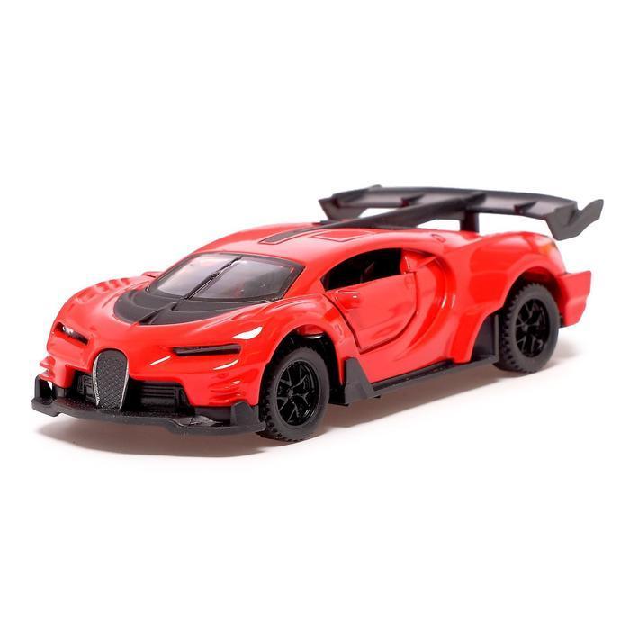 Машина металлическая «СпортКар», 1:32, инерция, открываются двери, цвет красный
