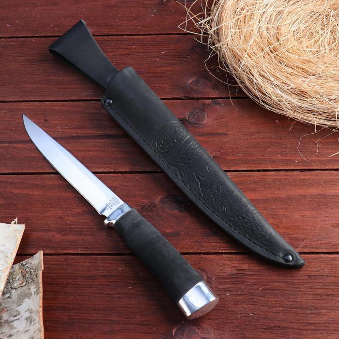 Нож охотничий «Батыр» Нр12, ст. ЭИ-107, рукоять дюраль, микропора, 26,5 см