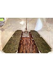 Палатка всесезонная Берег КУБ 2.20 двухслойная, непромокаемый пол из ПВХ, размер 2,2 х 2,02 х 1,9 м., фото 2
