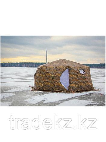 Палатка всесезонная Берег КУБ Гексагон двухслойная, высота 2.1 м., диаметр 4,65 м., площадь 12,57 м², фото 2
