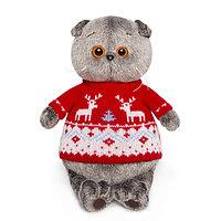 Басик в свитере с оленями 22 см