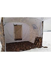 Палатка всесезонная Берег Кубоид 3.60 двухслойная, непромокаемый пол из ПВХ размер 3,6 x 1,8 x 1,9 м, фото 2
