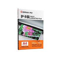 Плёнка для ламинирования А4, COMIX, M4070, 70мкм, 100шт., фото 1