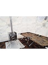 Палатка всесезонная Берег Кубоид 4.40 двухслойная, непромокаемый пол из ПВХ размер 4,4 x 2.2 x 1.9 м, фото 2