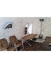 Палатка всесезонная Берег Кубоид 4.40 двухслойная, непромокаемый пол из ПВХ размер 4,4 x 2.2 x 1.9 м, фото 3