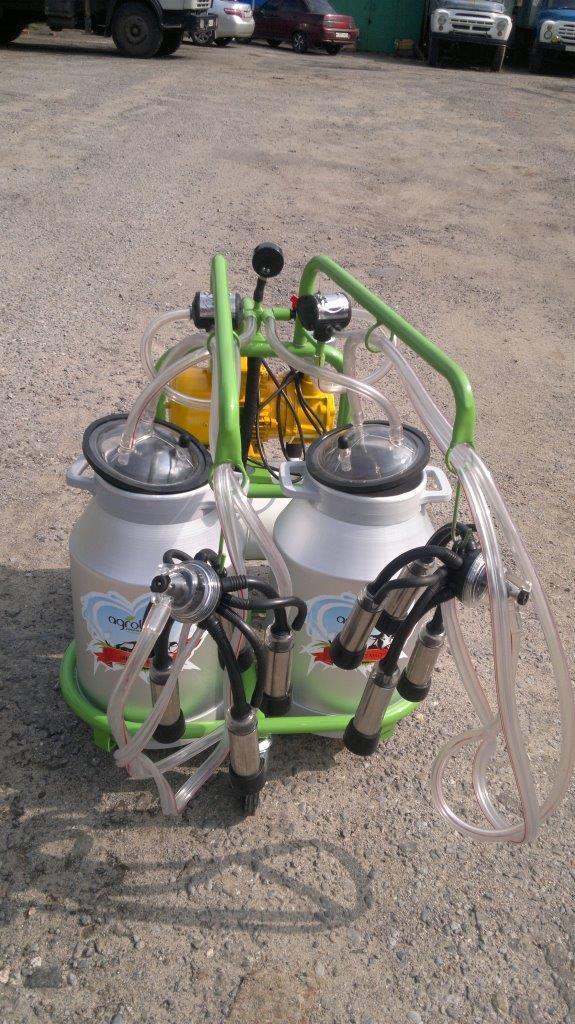 Турецкий доильный аппарат Agrolead  2 бидона 2 пульсатора