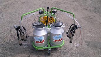 Турецкий доильный аппарат Agrolead  2 бидона 2 пульсатора, фото 2