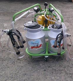Доильный аппарат 2 бидона 2 пульсатора Agrolead (Турция) сухого типа