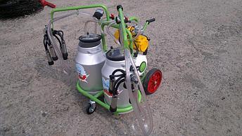 Доильный аппарат 2 бидона 2 пульсатора Agrolead (Турция) сухого типа, фото 2