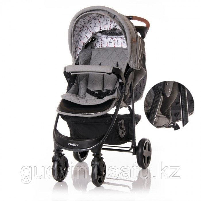 Прогулочная коляска Lorelli Daisy с накидкой на ножки Серый / Dark Grey LIGHTHOUSE 2056