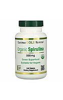 California Gold Nutrition,Органическая спирулина, 500 мг, 240 таблеток