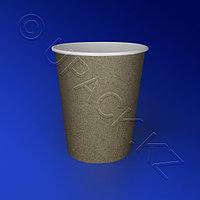Россия Стакан бумажный 250мл для горячих напитков крафт 50 шт/уп