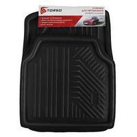 Коврики автомобильные TORSO, EVA, 70х52 см, 52х52 см, черный, набор 4 шт
