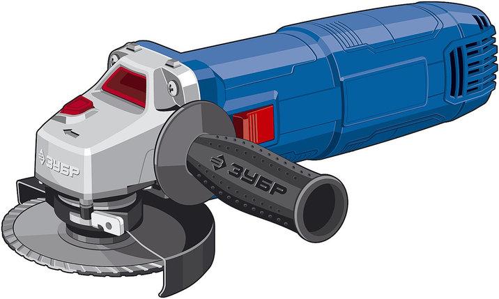 Углошлифовальная машина (болгарка) ЗУБР 750 Вт, 125 мм (УШМ-П125-750 ПСТ), фото 2