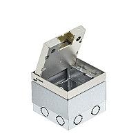 Лючок UDHOME2 с выемкой под н/п (пустой,нерж.сталь) 125x125x110 мм ЗАМЕНА АНАЛОГ= 7368340 UDHOME2 V, фото 1