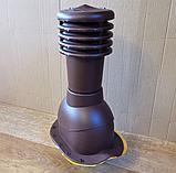 Вентиляционный выход на металлочерепицу 125мм монтерей, адаманте (Польша) коричневый, черный, графит, фото 7