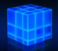 Светящийся зеркальный Кубик Рубик 3х3