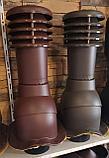 Вентиляционный выход на металлочерепицу 125мм монтерей, адаманте (Польша) коричневый, черный, графит, фото 9