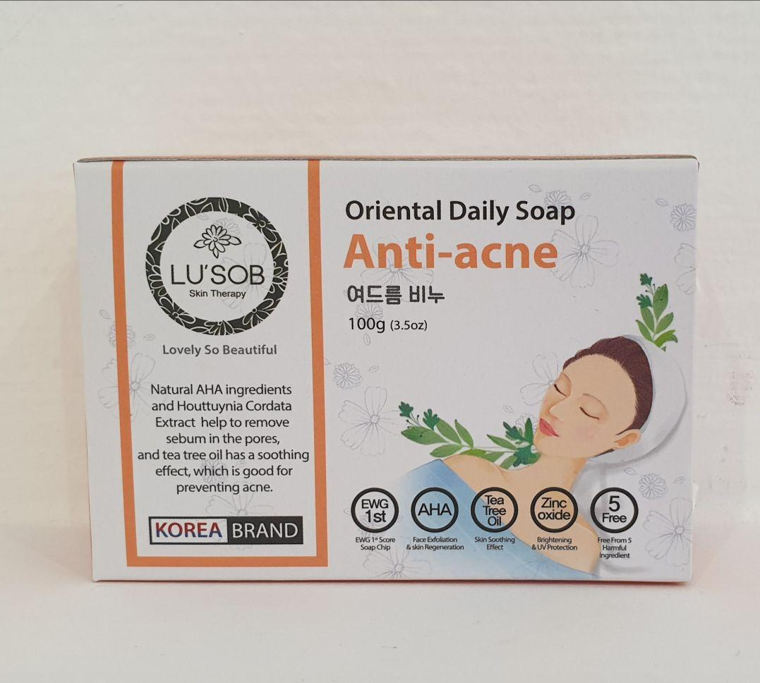 Мыло Анти- акне Oriental Daily Soap Anti-acne от Lusob 100g.