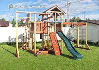 Детская площадка Савушка-СЕМЕЙНАЯ, игрвая башня, горка, швед.стенка, рукоход, кольца, 2 турника, брусья., фото 1
