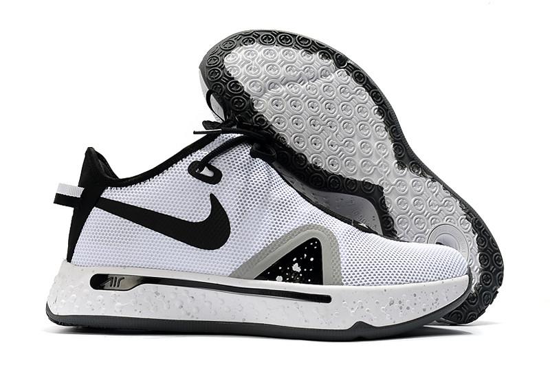 "Баскетбольные кроссовки Paul George 4 ""Black&White"" (40-46) - фото 1"